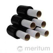 Folia stretch ręczna MINI 23mic/100mm/150m/czarna z rączką