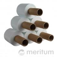 Folia stretch ręczna MINI 23mic/100mm/300m/biała  z rączką