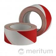 Taśma ostrzegawcza PCV 100mmx33m/ biało-czerwona