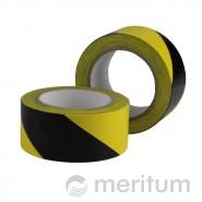 Taśma ostrzegawcza PCV 50mmx33m/ żółto-czarna