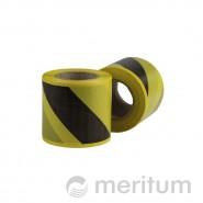 Taśma ostrzegawcza PE bez kleju 80mmx100m/ żółto-czarna