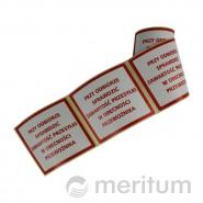 Etykieta samoprzylepna SPRAWDŹ ZAWARTOŚĆ 100x100mm/100szt