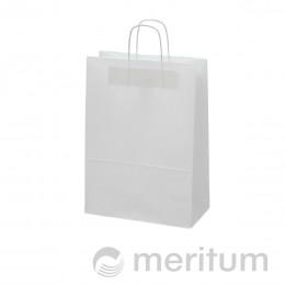 Torba papierowa biała eko 13x7x35/US/300szt