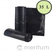 Worki LDPE na odpady 35l/ czarne/ 25 szt