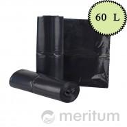 Worki LDPE na odpady 60l/ czarne/ 25 szt