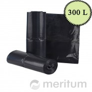 Worki LDPE na odpady 300l/ czarne/ 10 szt