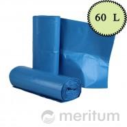 Worki LDPE na odpady 60l/ niebieskie/ 25 szt