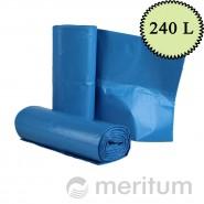 Worki LDPE na odpady 240l/ niebieskie/ 10 szt