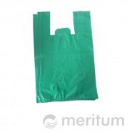 Reklamówka HDPE kolor 25 x 45 cm / 100 szt / zielona