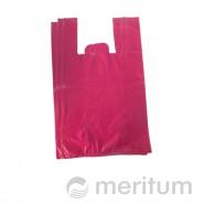 Reklamówka HDPE kolor 25 x 45 cm / 100 szt / różowa