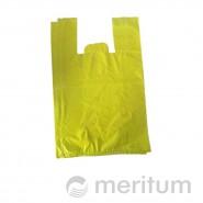 Reklamówka HDPE kolor 30 x 55 cm / 100 szt / żółta
